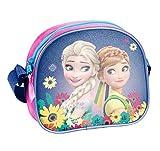 Disney Frozen - Die Eiskönigin, Elsa Anna Olaf, Handtasche Schultertasche (DFV), pink/lila, 18 x 15 x 6 cm