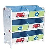 Unbekannt Toy Organizer Aufbewahrung Spielzeugkiste Kindermöbel Feuerwehr Schilder Verkehr Storage Canvas
