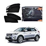 Sparkling Trends Premium Magnetic Sun Shades/Curtains for Hyundai Creta [Set of 4] Black