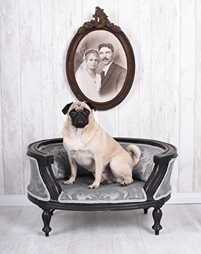 PALAZZO INT Luxus Hundebett Barockbett Hundekorb Hundesofa Barock Mopsbett Palazzo Exklusiv