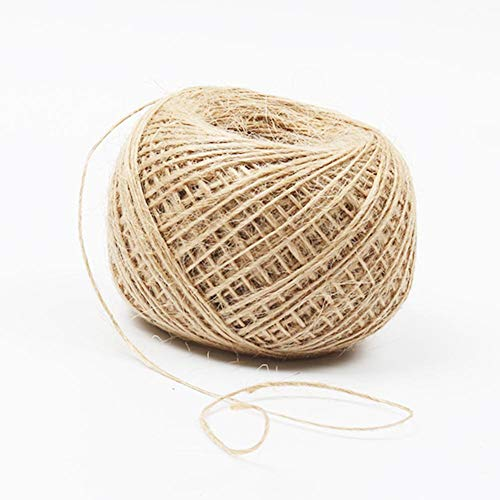 Maliyaw Natürliche Jutefaserschnur Brown String Für Gartenarbeit Shabby Rustikale Dekoration Geschenkverpackung DIY Handwerk Hochzeit Florist (1-3mm)