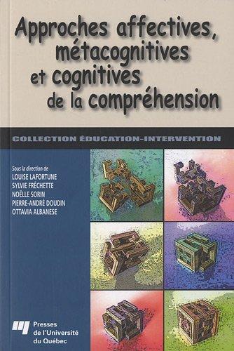 Approches affectives, mtacognitives et cognitives de la comprhension