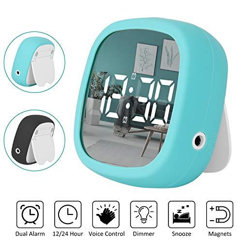 Shayson Reloj Despertador Viaje Digital Portatil, Despertador Electrónico LED con 2 Alarma/Función...