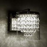 LED Wandleuchten mit Glasschirm Moderne K9 Kristall Innenleuchte für Wohnzimmer Schlafzimmer Gang Hotel 720lm 4000K Tageslicht Weiß