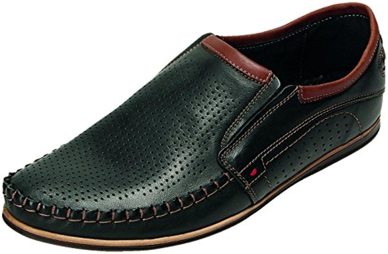 ABIS Zapatos de Cordones Para Hombre Negro Negro/Marrón -