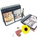 Mini-Fotoalbum von Zhi Jin mit 64 Fächern und Aufstellfunktion, für Fujifilm Instax in Polaroid-Größe, Spiralalben, Fotoalbum als Geschenk Schwarz