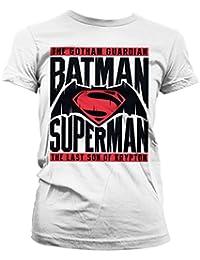 Officiellement Marchandises Sous Licence Batman Vs Superman Femme Tee