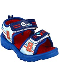 MYAU Kid's Boy's & Girl's Fashionable Stylish Blue Red Printed Soft Comfortable Casual Sandals