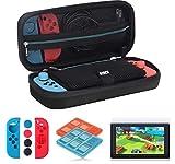 ANGPO für Nintendo Switch Tasche Kit Zubehörsets,Nintendo Switch Schutzhülle Hülle/Displayschutzfolie/Game Card-Hül