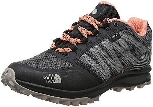 a2aa1d1f8 THE NORTH FACE Women's Litewave Fastpack Gore-Tex Low Rise Hiking Boots,  (Phantom Grey/Desert Flower Orange), 7.5 UK 40.5 EU