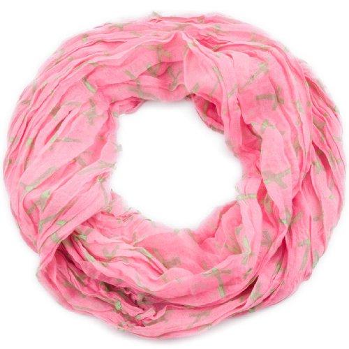 style3 Leichter Loop-Schal Kreuz in verschiedenen Farben, SCHAL Farbe:Rosa (Ein Geschenk Von Gott Kostüm)