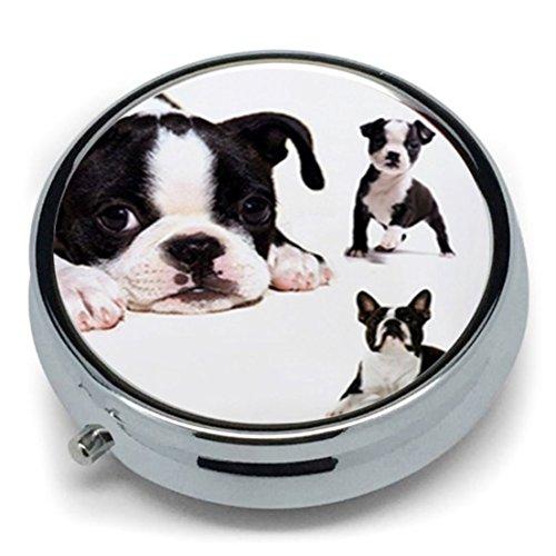 Cyberlee Hot Boston Terrier - Pastillero Metal Redondo