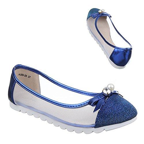 Ital-Design - Ballerine Donna Blu (blu)