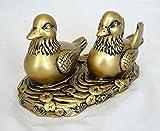 Par patos mandarines (imitación bronce) Feng Shui charm amor