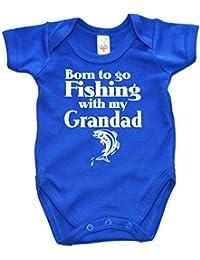 IiE, Born to go Fishing with my Grandad, Baby Boy Bodysuit