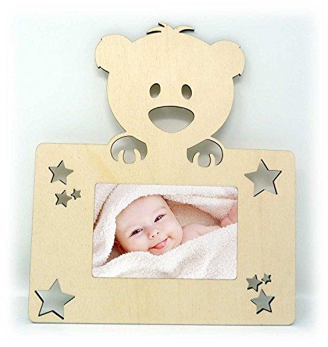 Teddybär Teddy Foto-Rahmen Wand Bilder-Rahmen Tür-Schild für das Wohnzimmer Kinderzimmer Babyzimmer für Mann Frau Mädchen und Junge Babys - Auch zum selbst bemalen geeignet (Bilder Von Teddybären)