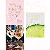 prosecco made me do it, gin tonica and 101 gins 3 books collection set - 60 seriously sparkling cocktails, 40 recipes for spanish-style gin and tonic cocktails, to try before you die