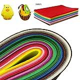 LinQ 20x Filzplatten bunt 20 Farben Bastelfilz je Filzplatte 200x300x 3 mm