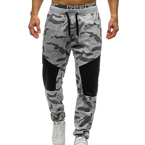 Yuxin Men's Jogging Pants - Fashion Camouflage Loose Fit Bodybuilding Trousers Tracksuit Bottoms Sweatpants For Running Yoga Training Gym