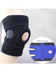 OOFWY Support de genou, stabilisateur de rotule ouverte, attache ajustable, manchon en néoprène - Soulagement de la douleur arthritique, réadaptation et protection contre les blessures sportives contre le réjugement