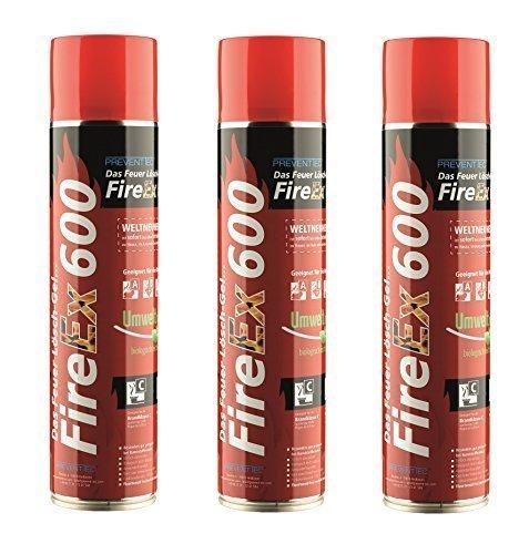 Prevento FireEx 600, das Feuer-Lösch-Gel, DREIERPACK!!! Preisvorteil! WELTNEUHEIT Herd Feuerlöscher