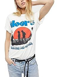 Germinate Camiseta - Túnica - Animal Print - Cuello Redondo - Manga Corta - para Mujer