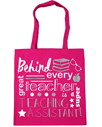 HippoWarehouse Behind Every Great Teacher Is A Super Teaching Assistant Tote Shopping Gym Beach Bag