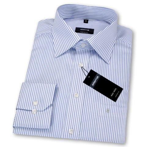 Herren Hemd 'Comfort Fit' Langarm bleu