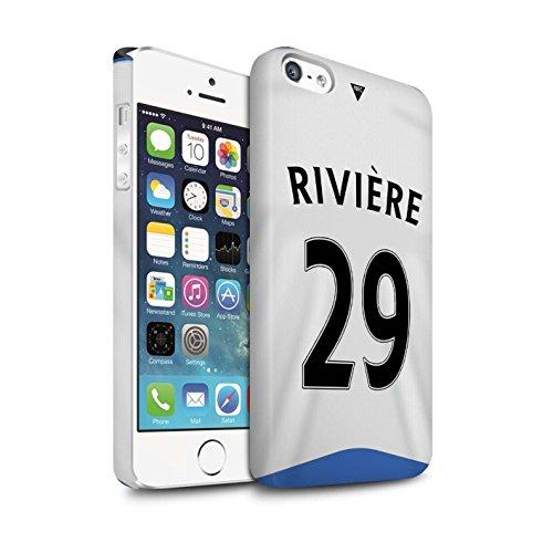 Offiziell Newcastle United FC Hülle / Matte Snap-On Case für Apple iPhone 5/5S / Pack 29pcs Muster / NUFC Trikot Home 15/16 Kollektion Rivière