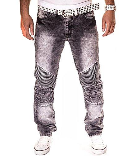KC1981 - Jean fashion homme texturé Jean KC126 gris - Gris Gris