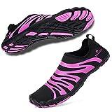 0db2881f5ac260 7. hiitave Damen Breiter Fuß Aqua Schuhe Barfuß Trailrunning Ausbildung  Schuhe lila 40 EU