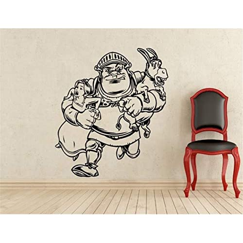 pegatinas de pared disney Shrek Princess Fiona Kids Cartoon Sticker Interior Inicio Habitación para niños Diseño 1