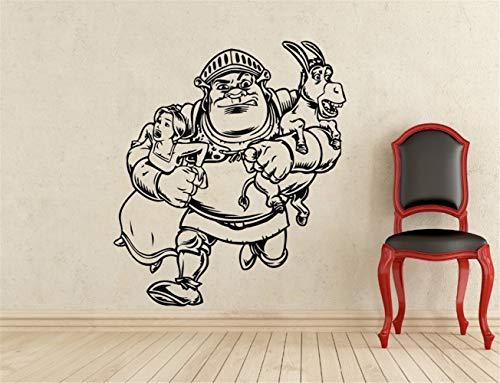 wandaufkleber 3d schmetterling Shrek Prinzessin Fiona Kids Cartoon Sticker Interior Home Kinderzimmer Design