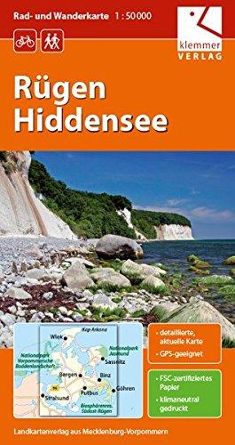 Rad- und Wanderkarte Rügen - Hiddensee: Maßstab 1:50.000, GPS-geeignet, Erlebnistipps auf dem Kartenblatt