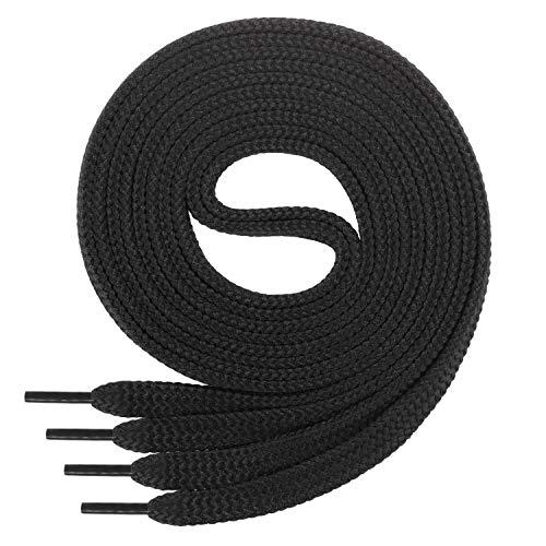 Di Ficchiano Flache SCHNÜRSENKEL für Sneaker und Sportschuhe-schwarz-Länge 100cm - 7mm breit