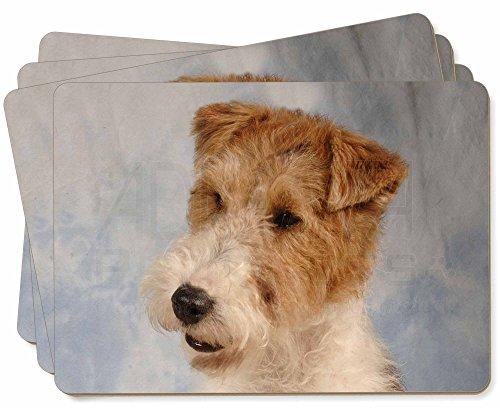 Advanta - Place Mats Fox -Terrier-Hund Bild Tischsets in Geschenkbox Weihnachten Tisch Geschenk -