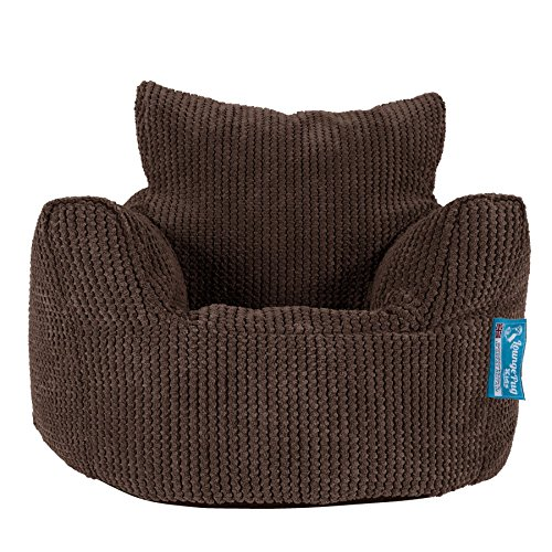 Lounge Pug, Kindersessel Sitzsack, Sitzsack Kinder, Pom-Pom Schoko