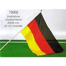 12 Stück Deutschland Fahne Flagge Schwenkfahne Schwenkflagge NEU 15 x 10 cm