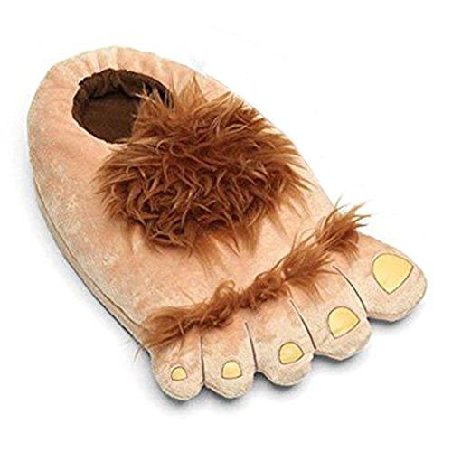 SUPEREX® Hobbit Feet Slippers Halbling Furry Adventure Plüsch-Pantoffeln Hausschuhe Erwachsen Europäische Größe: 36-42