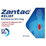 Zantac 75mg Relief, 12 Tablets