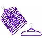 12 x Raumspar- und Anti-Rutsch Magic Kleiderbügel Smart in VIOLETT