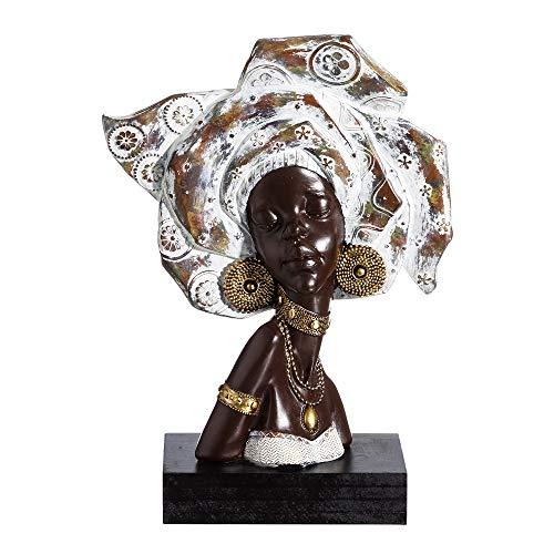 Figura Africana marrón de Resina étnica para salón Arabia - LOLAhome