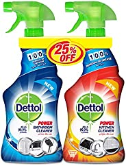 Dettol Orange Healthy Kitchen Power Cleaner Spray & Healthy Bathroom Power Cleaner Trigger 50