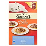 Purina Gourmet Mon Petit with Cord Sardine and Salmon Adult Wet Cat Food, 300g (Pack of 6)