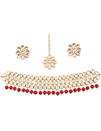 New! Touchstone Indian Bollywood Desire Exclusive Mughal Era Inspired Stylish Traditional Kundan Polki Look Designer...