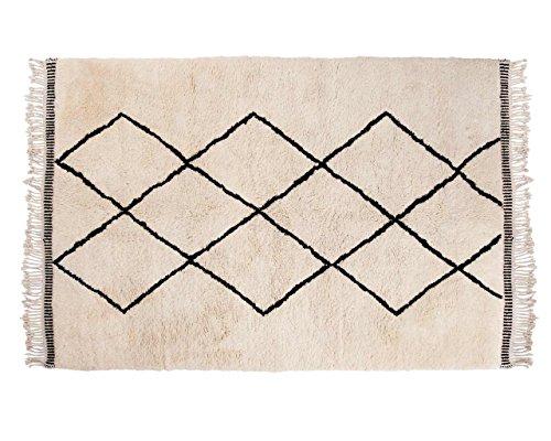 Aicha: Marroquí de Beni Ouarain de alta pila de lana Alfombra de las montañas del Atlas con el modelo de Diamond Compra Online (80cm x 100cm / 2' 7.5'' x 3' 3.4'')