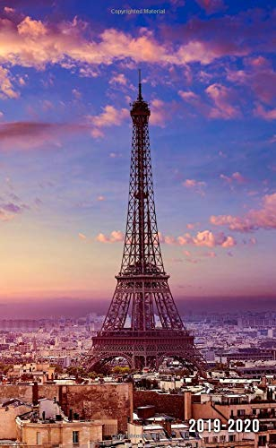 2019-2020: Two-Year Eiffel Tower Monthly Pocket Planner with Phone Book, Password Log and Notebook. Nifty Paris, France 24 Month Agenda and Organizer. por Simple Planners