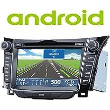 "Radio Navegador GPS Android Hyundai I30 2012> - 2 DIN pantalla 7"" HD GPS DVD USB SD BT"