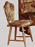3-2-2-2188: 2 Stühle - Eiche rustikal - 2 Esszimmerstühle - 2 Küchenstühle - 2 Kneipenstühle