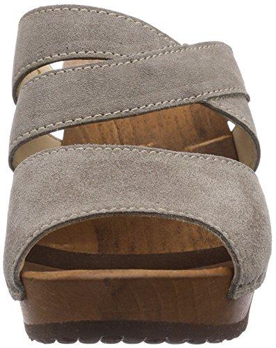 Woody Samantha Damen Pantoletten Grau (Taupe) BtNazqsMz